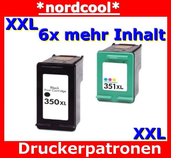 druckerpatrone 350 351 f r hp photosmart c4580 c4280 ebay. Black Bedroom Furniture Sets. Home Design Ideas